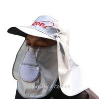 Cappello da pesca unisex protezione solare 53-63 cm regolabile testa circonferenza antivento pesca Cap all'aperto attrezzature antipolvere