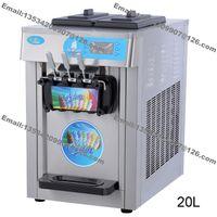 Ücretsiz Kargo 20L Düzce Yoğurt Tezgah Paslanmaz Çelik Ticari 110 v 60Hz 220 v 50Hz Elektrikli 3 Lezzet Yumuşak Dondurma Makinesi Makinesi