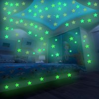 3D Stars Glow In Dark Luminous Fluorescent Plastic Wall Stic...