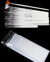 15 adettakım Nail Art Süslemeleri Fırça Seti Araçları Profesyonel Boyama Kalem Yanlış Nail İpuçları UV Tırnak Jel Lehçe