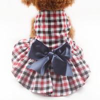 Armipet Moda Xadrez Dog Vestidos Princesa Vestido Para Cães 6071062 Filhote de Cachorro Roupas Suprimentos XS S M L XL