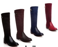 Wholesale New Arrival Hot Sale Specials Super Fashion Influx Martin Roman Suede Stovepipe Autumn Square Large Size Knight Boots EU34-50 free shipping latest cheap price top quality outlet discount sale HnHSm9wbUh