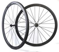 벨로 사! 700C 38mm 깊이 탄소 바퀴 25mm 너비 관형 / 클린져 도로 자전거 탄소 바퀴 세라믹 허브와 함께 U 형 슈퍼 라이트 휠