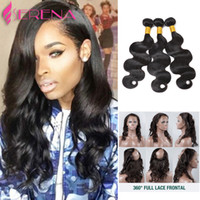 Pre Plucked 360 Lace Frontal With Bundles Brazilian Body Wav...