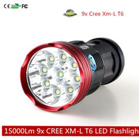 15000 Lumens 9x CREE XML T6 LED Flashlight Torch Hunting Sea...