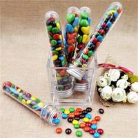 Nouveautés - 25pcs 40ml Haute Qualité Tube à essai en plastique Skittles Candy Box pour Baby Shower Décoration Boîte de bonbons à la main