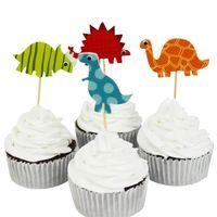 240pcs bunte Dinosaurier Cupcake Topper für Kinder Party Geburtstag