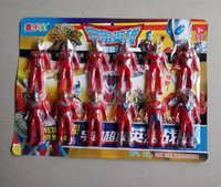 Spot genuine Japanese film and television Q version dolls Superman Ultraman plastic action map 12pcs   lot toys doll factory direct