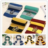 Harry Potter Scarf Gryffindor School Unisex Knitted Striped ...
