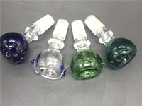 Schermo di vetro ciotole per Bong Con viti rotonda verde blu Donna Uomo 14 millimetri 18 millimetri comune accessori di fumo per i tubi di acqua Bong