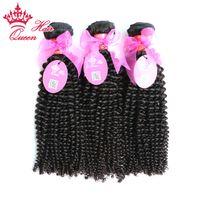 """Королеве волосы 100% девственницы человеческие волосы лучшее качество 8 """"-30"""" 3шт много девственницы бразильцы вьющиеся вьющиеся волосы в наличии завод"""