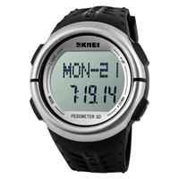 Skmei 1058 marka spor kol pedometre kalp hızı monitörü kalori sayacı spor erkekler kadınlar için dijital led saatler