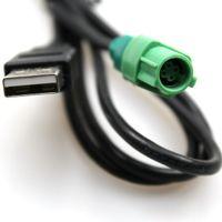 فولكس واجن سيارة USB ذكر رئيس جولة 4 دبوس تسخير الأسلاك AUX محول لشركة فولكس فاجن