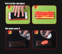 Tampa termossensível Color Change Caso mágico PU Fingerprint macia Sensoriamento Sensor térmica de calor para o iPhone de 11 Pro Max XS XR X 8 7 6 6S Além disso,