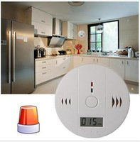 Karbon Monoksit Tester Alarm Uyarı Sensörü Dedektörü Gaz Yangın Zehirlenmesi Dedektörleri LCD Ekran Güvenlik Gözetim Ev Güvenlik Alarmları