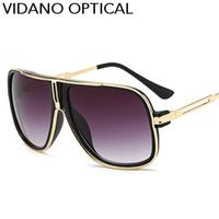 Vidano 광학 고품질 남자를위한 최신 사각 디자이너 선글라스 여자 고전적인 상표 일요일 안경 패션 안경 Eyewear UV400