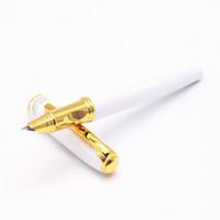 Groothandel- Hero 7023 Witte Ronde Pen Body Business Office Gold Fijne NIB Vulpen Nieuw