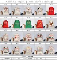 2018 هدايا عيد الميلاد أكياس كبيرة قماش حقيبة الثقيلة سانتا كيس الرباط حقيبة مع أكياس الرنة سانتا كلوز كيس للأطفال