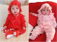 Neugeborenes Baby kleiden Spitze Blumen Säuglingsprinzessin Jumpsuit Cotton Baby Strampler