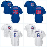 2017 Chicago Cubs Jersey 75 Jacob Hannemann 76 Jose Rosario 80 Pierce Johnson Maillot de baseball pour jeunes