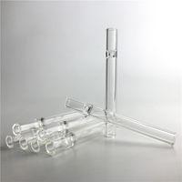 Mini Nektar Kollektörü Kuvars Çivi Saman Tüpü 5 İnç Temizle Filtre İpuçları Cam Suyu Testere Sigara için Ucuz El Boruları