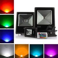UMLight1688 10pcs Refletor LED Projecteur LED RGB 10W 20W 30W 50W LED CLAIR LED ÉTAPIÈRE LED Etanche LED Spotlight Eclairage extérieur Lampe de paysage