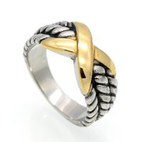 The big European and American antique gold rings titanium fe...