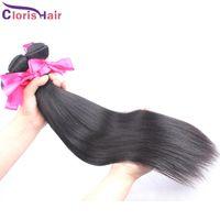 놀라운 혼합 2pcs 페루 버진 스트레이트 헤어 실크 부드러운 인간의 머리카락 묶음 묶음 저렴한 처리되지 않은 직선 자연 머리 확장 거래