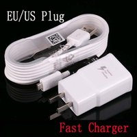 100% Rapid Samsung Fast Charger para Galaxy S7 6 Note4 5 Adaptive Quick Charger EU EU Plug Travel Charging 9V 1.67A 5V 2A