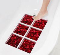 6 Teile / Satz 15x15 Cm Moderne 3D Badezimmer Aufkleber Wasserdichte  Badewanne Aufkleber Selbstklebende Wand Decor