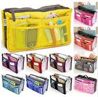 13 colori sacchetto doppio In Sacchetto Donne Inserire borsa dell'organizzatore di caso di trucco della borsa bagagli fodera del sacchetto ordinato Viaggi Inserire sacchetti di immagazzinaggio CCA6643 30pcs