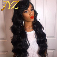 Body Wave Human Hair Wig Free Part Malaysian Human Hair Full...