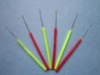 1000 pçs / lote Lidar Com Plástico Lidar Com Agulha, Micro Anéis / Loop Agulha Ferramentas de Extensões de Cabelo