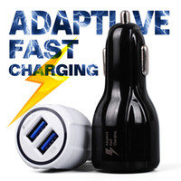 Adaptive FAST Charger Chargeur Rapid Phone Car Quick 3.1A Dual USB Pour iphone 6 7 OEM Samsung Galaxy S7 / S6 bord
