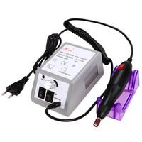 도매 - 1 세트 6bits 15,000 전기 매니큐어 기계 + 15PCS 브러쉬 세트 네일 케어 ProductUS / UK / EU 플러그 $ k에