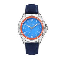 새로운 도착 시간 제한 빅 판매 대외 무역 남성 캐주얼 플렉시 글라스 미러 손목 시계 패션 간단한 벨트 진공 도금 쿼츠 시계