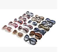 Gratis frakt högkvalitativa kvinnors damer designer solglasögon sköldpadda stor ram UV400 solglas blandade färger Välj