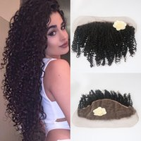 Brazilian Kinky Curly Lace Frontal Closure 13X6 Remy Virgin ...