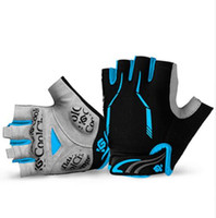 Cycling Gloves Male Half Finger Gel Pad Mountain Bike Bicycl...
