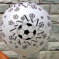 New style 50pcs  lot Football printing balloon, high quality...