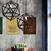 Промышленный Эдисон висит подвесной светильник люстры освещение потолок подвесной светодиодный подвесной светильник большой размер арт-деко клетка лампа охранник металл