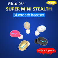 Plus récent Q13 Mini Invisible In Ear Earphones sans fil Headphone Bluetooth 4.1 Earbud Noise Canceling With Mic pour iphone 7 samsung phone