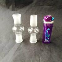 Adaptador de vidrio coloreado 14 mm doble vidrio macho y hembra de 18 mm Accesorios para bongs de vidrio