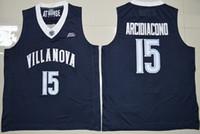 2019 Mens Ryan Arcidiacoono Villanova Wildcats 네이비 블루 대학 농구 유니폼 15 Ryan ArcidiaCono Shirts 스티치 저지 S-XXL