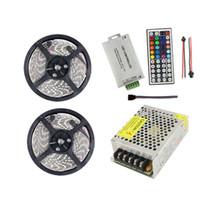 10m 24V RGB LED Streifen Licht Lampe 5050 60leds / m 24 Volt Band Tiras Band wasserdicht IP65 + Fernbedienung + Netzteil Transformator CE