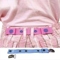 Children Trousers Adjustable Waist Belt Clips Kids Pants wai...
