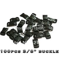 """Wholesale-100 PC / porción de 3/8"""" (10 mm) hebillas plásticas contorneada curvada por la pulsera de Paracord las correas envío"""