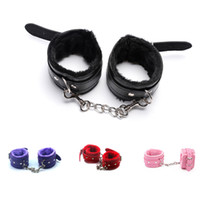 Adult Game PU Leather Handcuffs Whip Collar Erotic Toy for C...