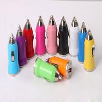 2000PCS / الكثير عالمي البسيطة USB شاحن سيارة العالمي USB محول شاحن سيارة الملونة على الهاتف الذكي، الهاتف المحمول، الهاتف الروبوت