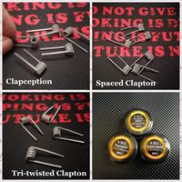 Spaced Clapton Tri-twisted Clapton Clapotion 코일 와이어 0.35ohm 316L 스테인레스 스틸 소재 premade 랩 RDA RDTA 용 사전 제작 전선
